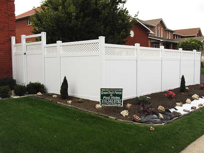 Vinyl-Fencing-with-Latice-&-Gate-Installation-in-Scarbourough by wholesalefence.ca