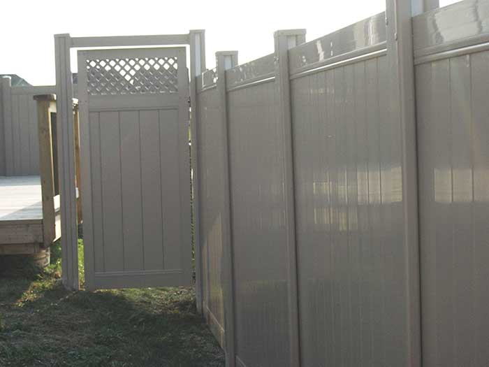 Vinyl-Fencing-with-Latice-on-Gate-Installed-in-Markhmam-Ontario by wholesalefence.ca