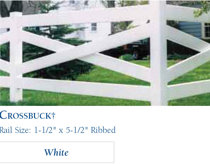Vinyl Horse Fencing-CrossBuck by wholesalefence.ca