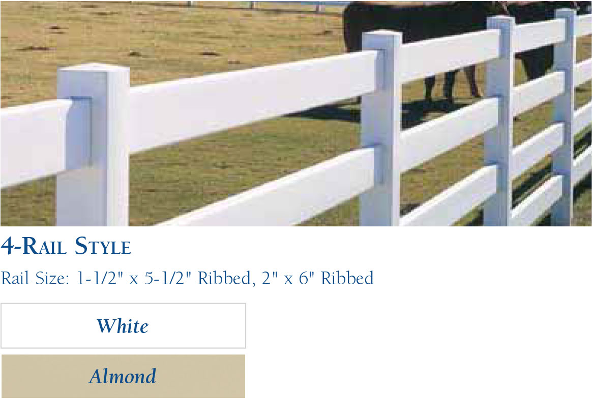 Vinyl Horse Fencing-Rail Style by wholesalefence.ca