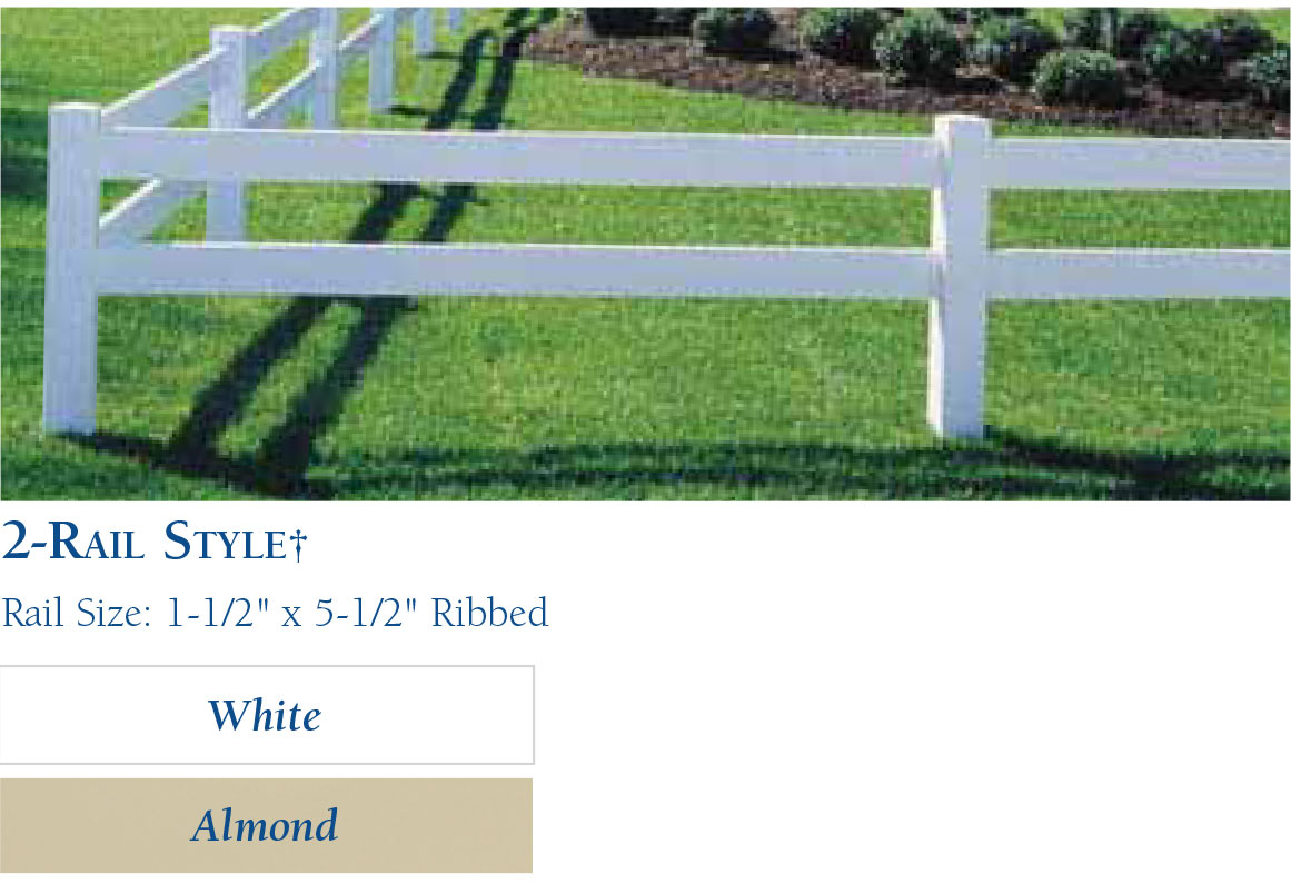 Vinyl Horse Fencing-Rail Style2 by wholesalefence.ca