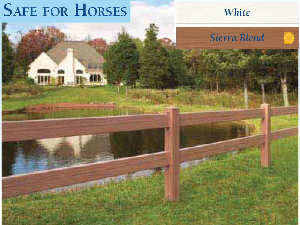 Vinyl Horse Fencing by wholesalefence.ca