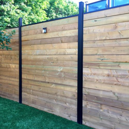 Wood Fence Install